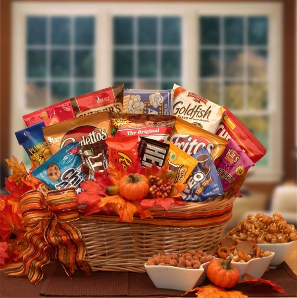 A Fall Snack Attack Gift Basket Gift Shop Cart